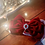 Thumbnail: Large Red Velvet Bow with Crystal