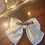 Thumbnail: Large Satin Cream Bow with Crystal
