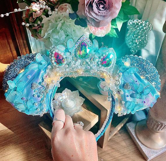 Luxury Glass Slipper Princess Ears