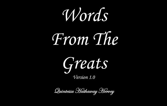 Words From The Greats: Version 1.0 (EBook)