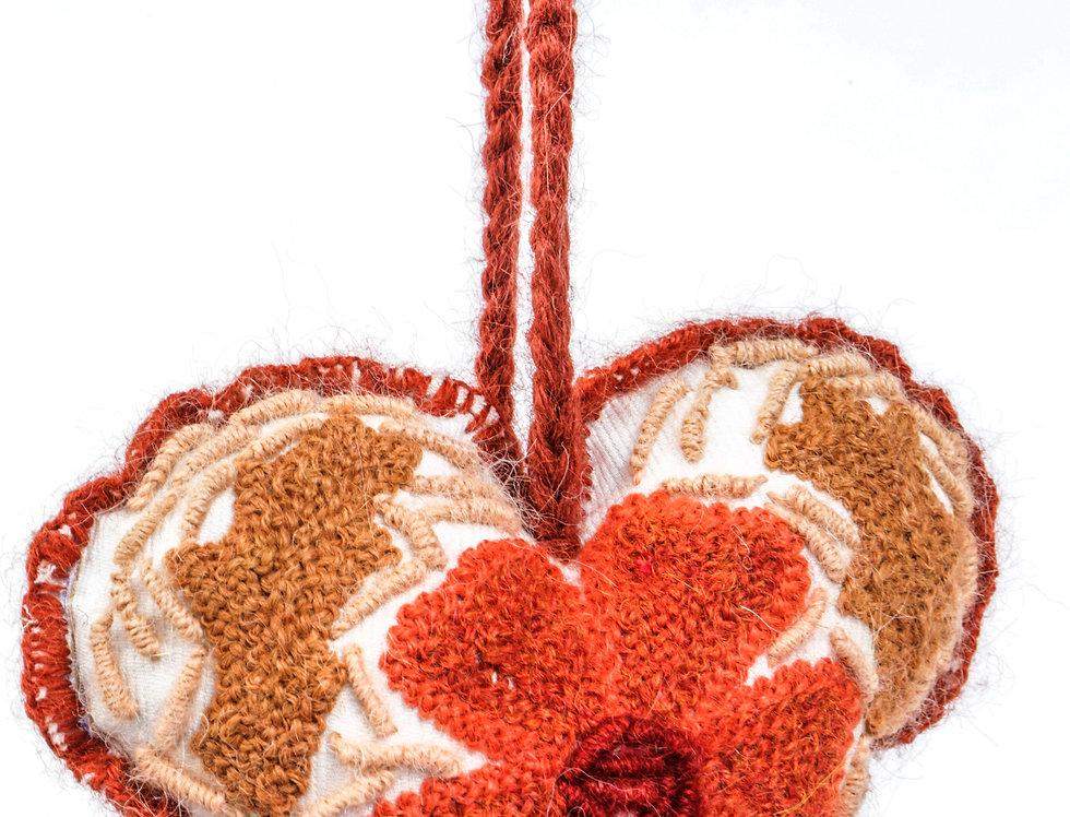 Adorno Corazón Naranja (A pedido)