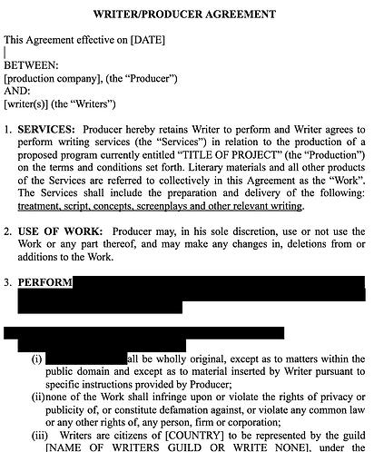 Basic Writer/Producer agreement template EN