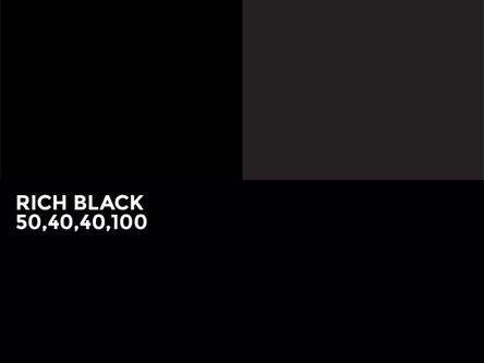 Un noir parfait lors d'impression