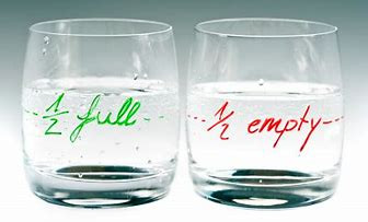 Is Your Glass Half Empty or Half Full!