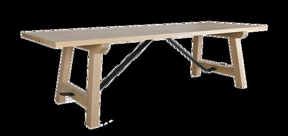 Steel trestle table