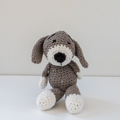 Cão Pantufa Cinzento
