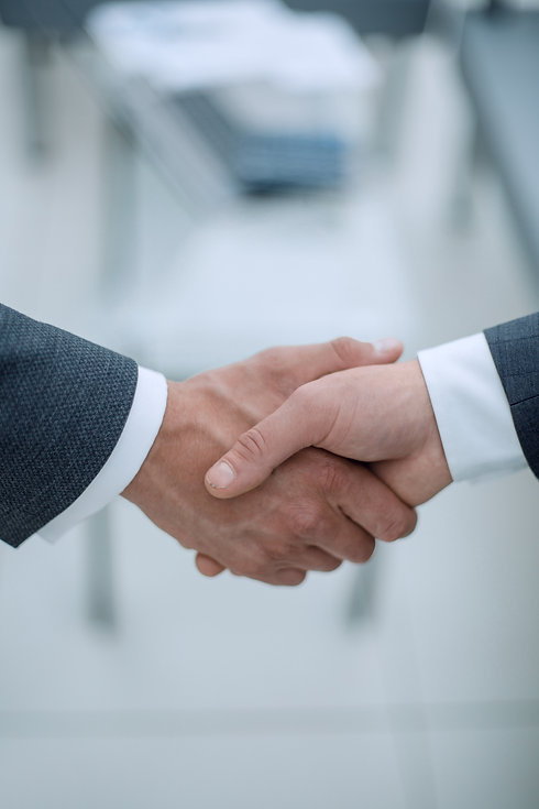 close up.handshake of business people on