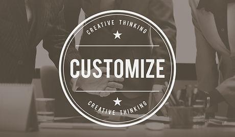 Customize Modify Create Adjust Concept.j