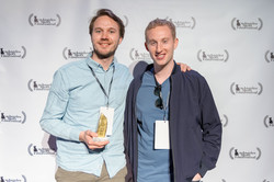 Johan Bodell and producer Alec Trachtenberg at the Los Angeles Short Film Festival