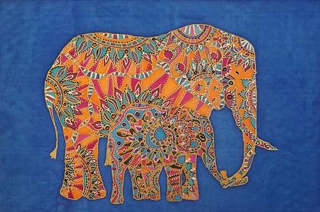 elepahnt family silk painting.jpg