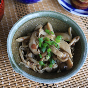 SIMMERED MUSHROOMS WITH PICKLED PLUM SAUCE