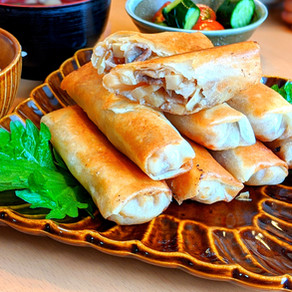 Spring roll- using microwave-