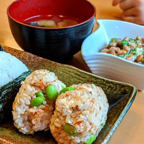 Edamame kombu onigiri/ rice ball