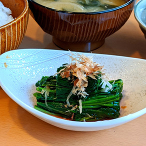 JAPANESE SPINACH SALAD/ ほうれん草のお浸し