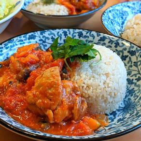 TOMATO CHICKEN STEW WITH GARLIC RICE / JAPANESE FERMENTED FOOD RECIPE