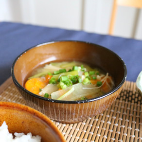 MISO SOUP IN HOMAMADE VEGETABLE BROTH