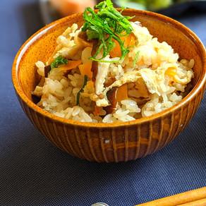 Vegan Japanese style vegetable mixed rice