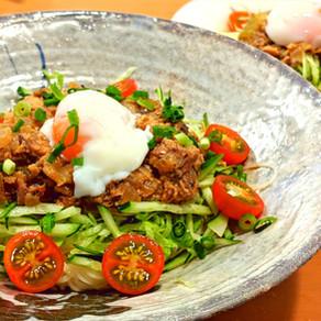 Canned Mackerel noodle salad