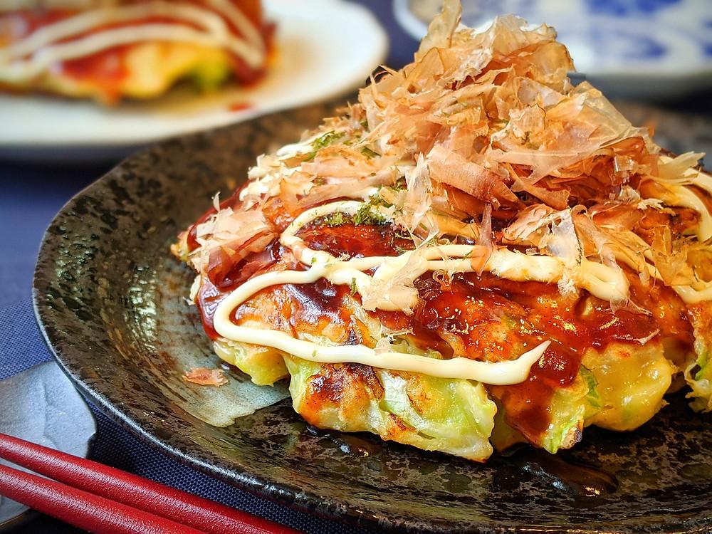 okonomiyaki - Japanese savory pancake