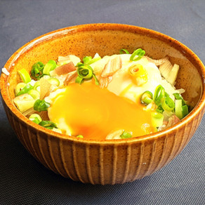Onsen egg rice bowl