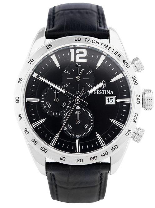Festina Leder Herren Uhr F16760/4 Quarz Armbanduhr schwarz Sport D2UF16760/4