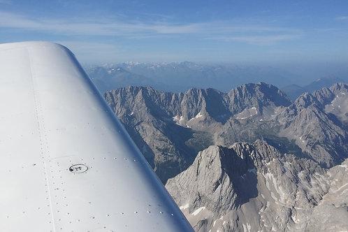 Zugspitzflug oder Oberlandrundflug mit Sportflugzeug inkl. Mwst.