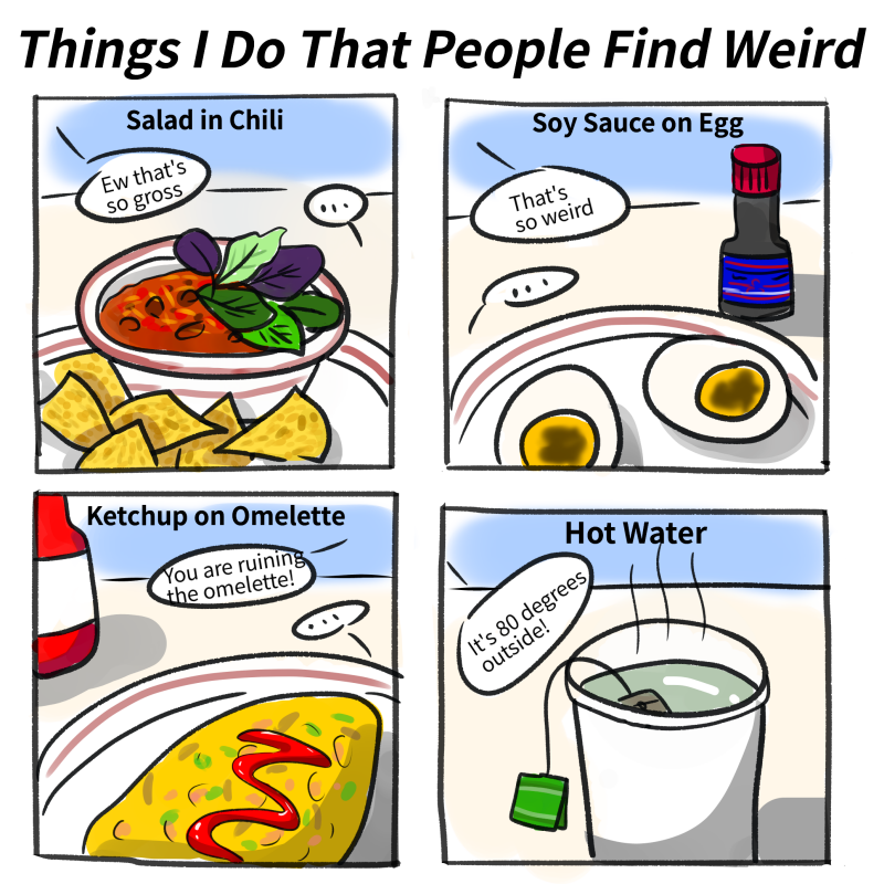 Things I do that People Find Weird
