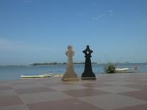 King&Queen auf der Terrasse am Fluss