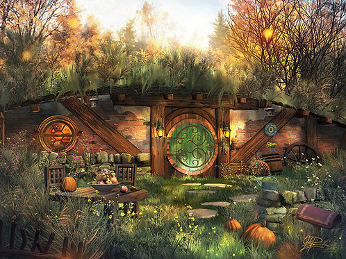"""Hobbit Sunrise"" Painting by Joel Payne"