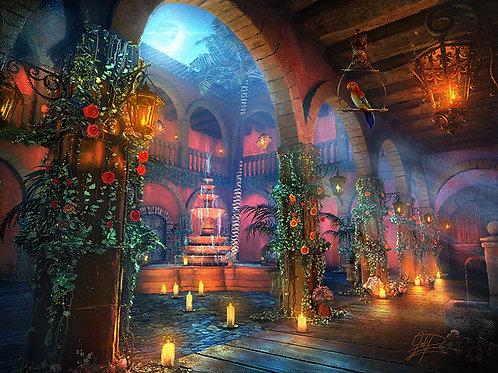 Romance at the Hacienda by Joel Payne Giclee Canvas Artist Proof