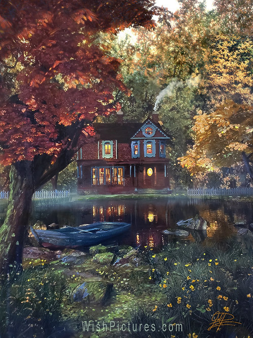 """""""The Lake House"""" Painting by Joel Payne"""