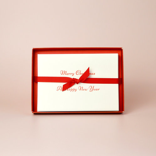 Box of letterpress Christmas cards
