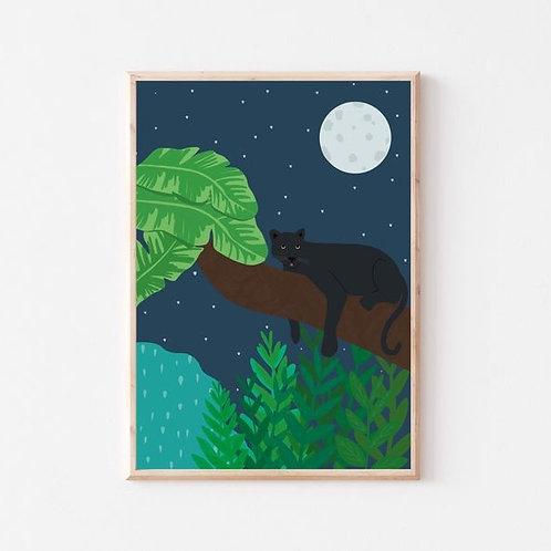 'Jungle panther' A4 print