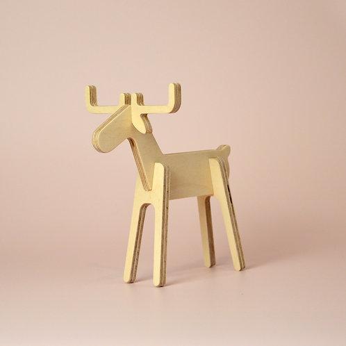 Small plywood reindeer