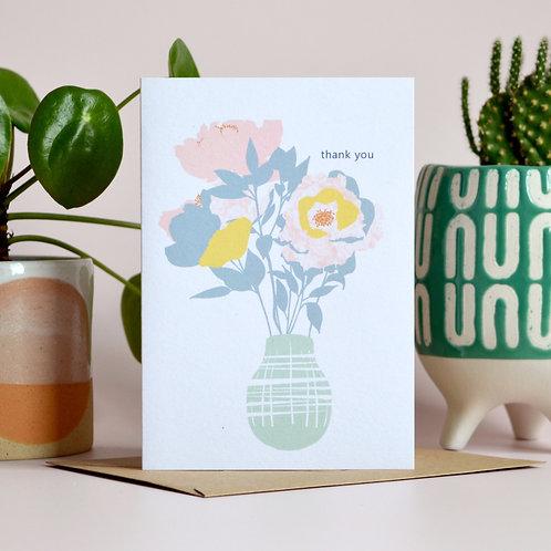 Thank you flower vase card