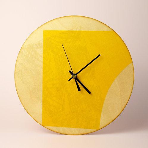 Birch plywood clock