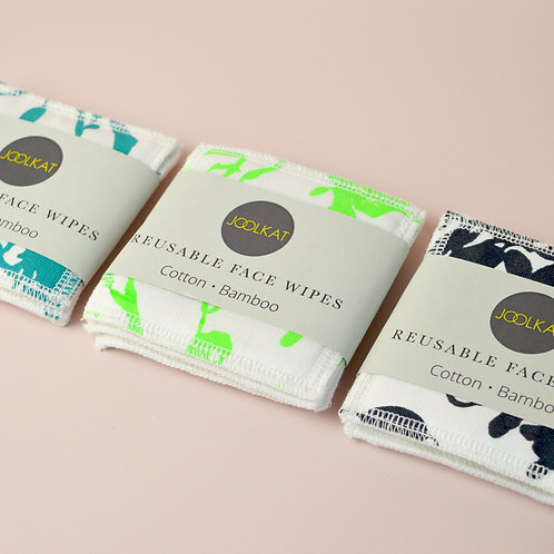 Re-useable face wipes