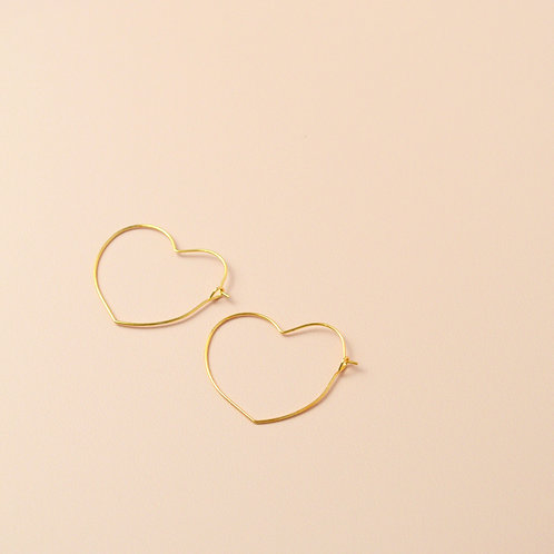 Gold plated star and heart hoops