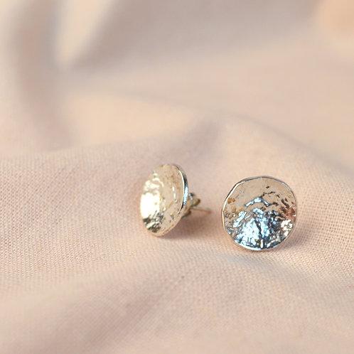 Textured 'palma' dome earrings