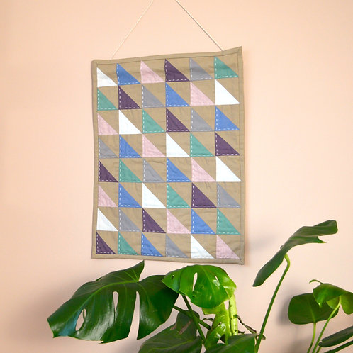 Quilted 'Suffolk' wall hanging