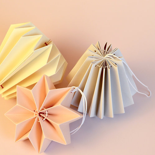 Origami paper decorations