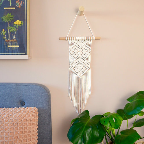 Ivory macrame wall hanging