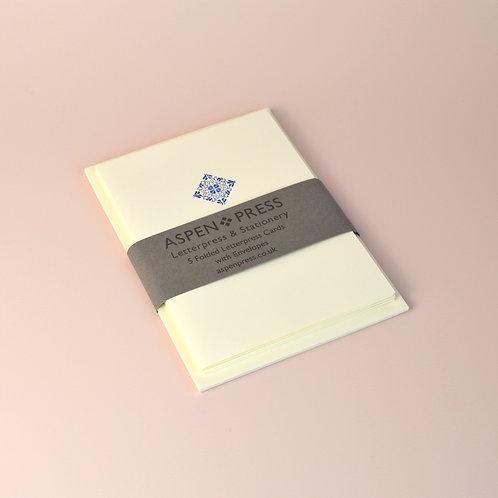 Pack of letterpress cards with envelopes