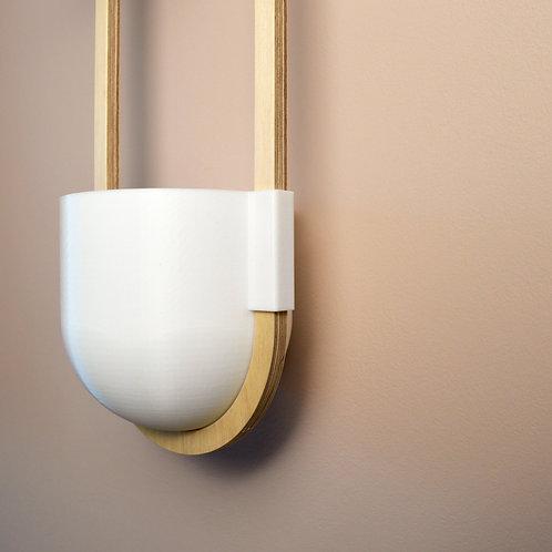 White hanging planter
