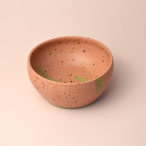 Small pink ceramic bowl