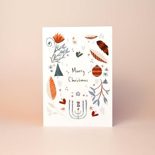 Scandi Merry Christmas card