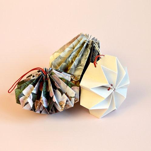 Origami paper decorations