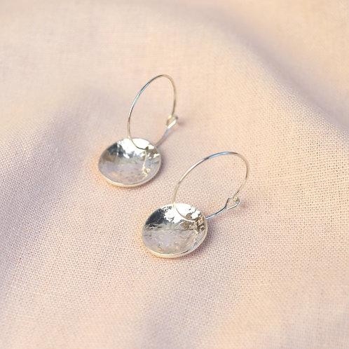 Textured 'palma' hoop earrings
