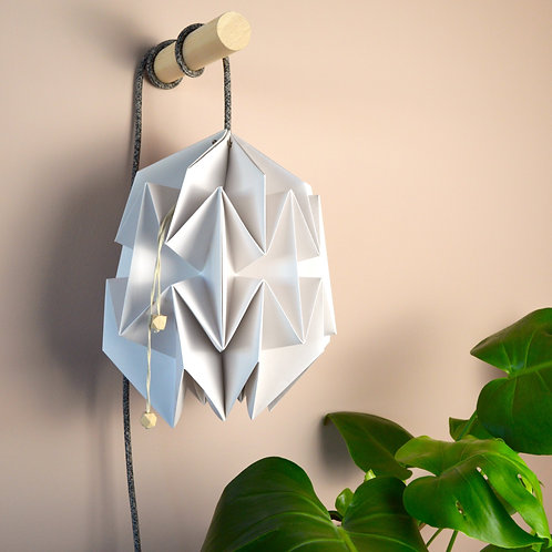 'Orchid' paper lampshade