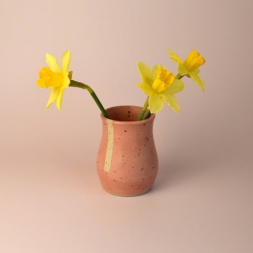 Small pink ceramic vase
